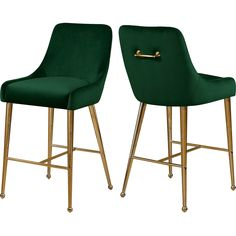 Owen Velvet Stool, Set of 2 - Contemporary - Bar Stools And Counter Stools - by Meridian Furniture Swivel Bar Stools, Bar Chairs, Side Chairs, Room Chairs, Velvet Stool, Stool Height, Meridian Furniture, Modern Stools, Counter Height Stools