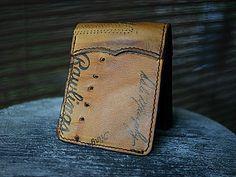 Custom Bi Fold Wallet Built From Old Baseball Gloves-Vvego…