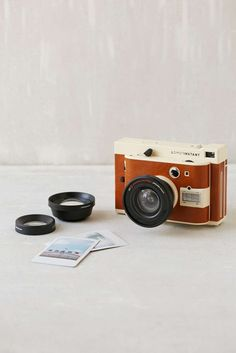 This Lomo'Instant camera mixes the old and new with its insta digital prints.