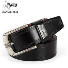 945ecae1f8d FuzWeb:[DWTS] Men Belt Faux Leather Waistband Vintage Classic Pin Buckle  Design Belts