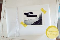 lauren elise crafted blog | beautiful packaging with white paper, vintage photos, bakers twine and washi tape. special presentation.