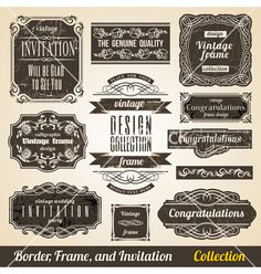 Calligraphic element border corner frame and vector by Designer_things on VectorStock®