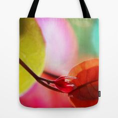 Summer mood. Tote Bag by Mary Berg - $22.00 #totebag #society6 #spring #floral #pink #red #women #art