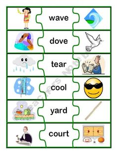cute idea for homographs