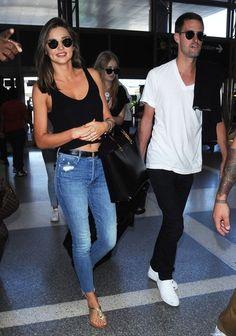 Miranda Kerr Photos - Miranda Kerr Catches a Flight at LAX with Her New Boyfriend Evan Spiegel - Zimbio