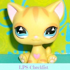 Littlest Pet Shop No Peach Paws Off Diary Kitty Cat w Pink Heart LPS RARE.  Click here: mylittlestpetshops.com for more pets!