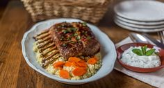 Turkish Rack of Lamb recipe : Lamb seasoned in a unique herb-spice blend and served with mint yogurt.
