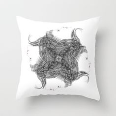 hair Throw Pillow by creaziz - $20.00