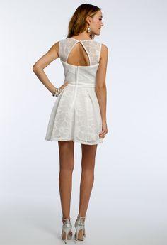Mesh Floral Lace Dress #camillelavie