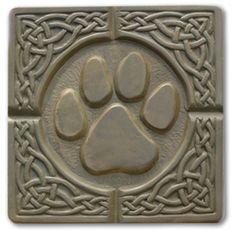 Pawprint Stepping Stone Mold