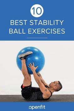 10 of the Best Stability Ball Exercises. You can use an exercise ball in a number of ways, and since it doesnt take up a lot of space its an excellent piece of home workout equipment. Exercise Ball Routine, Excercise, Yoga Ball Workouts, Fitness Ball Exercises, Office Workouts, Exercise Moves, Men Exercise, Chest Workouts, Exercise Motivation