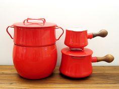 DANSK Kobenstyle 4-Piece Red Enamel Pot Collection