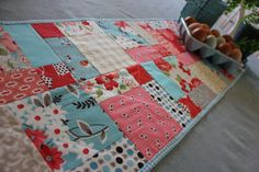 Spring Table Runner by Strawberry Field Quilts