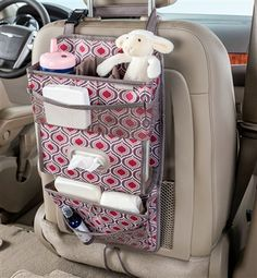 Keep noses clean and little hands busy with our TissuePockets seat back car…