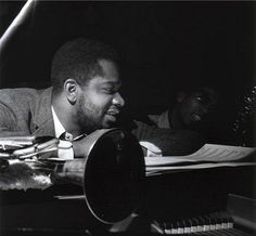 Donald Byrd in the studio - photo by Francis Wolff