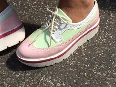 Love my candy colour platform sneakers! www.style4style.com