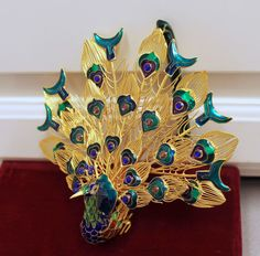 Cloisonne Peacock Ornament from Dillard's - Copper & Enamel - Christmas Holiday