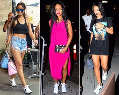 Rihanna rocking new balances