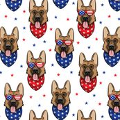 patriotic German shepherd custom fabric by littlearrowdesign for sale on Spoonflower Arrow Decor, Party Shirts, Surface Design, Creative Business, Custom Fabric, Spoonflower, Quilt Patterns, Craft Projects, German