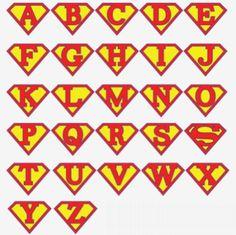 Letreiro para Festa do Super-Homem | Espaço Infantil