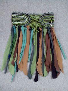"""Röcke - Elfenrock """"Waldfee"""" mit gehäkeltem Bund in - ein Designerstück von zehnmalklug bei DaWanda"""
