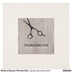 Modern Elegant Wooden Black Scissor Hair Stylist