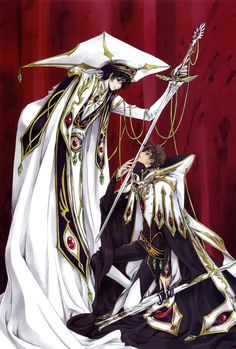 CLAMP designed the characters for Code Geass... can you tell?