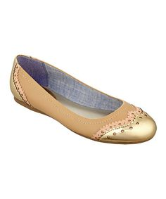 50b769ad9 Tan   Gold Civiane Flat by Tommy Hilfiger Maybe a brown instead of tan