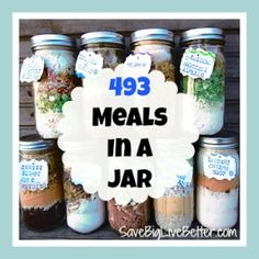 I think even I could use this information to help me cook. Since we're always looking for ways to stretch your grocery budget, and meal planning is a big part of that, these meals in a jar will be an amazing help. Make Ahead Meals, Freezer Meals, Quick Meals, Mason Jar Meals, Meals In A Jar, Mason Jars, Canning Jars, Jar Gifts, Food Gifts