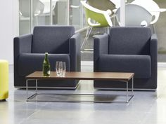 Ortega chair and coffee table designed by David Fox for Connection