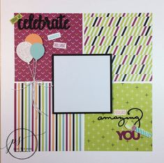 """We're mixing things up today with a 12""""x12"""" scrapbook layout perfect to remember those birthday memories. It's perfect for guys or gals of any age and highlights the Picture Perfect suite of products (stamp set and designer paper). Celebrate those years with memory keeping! Stampin' Up! Anniversary Scrapbook, Wedding Scrapbook, Scrapbook Supplies, Office Supplies, Notebook, Scrapbook Wedding Album, Desk Supplies, Wedding Albums, Birthday Scrapbook"""