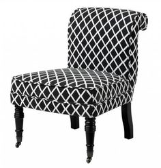 Huonekalut - Tuolit - Tuolit - Chair Berceau Black and White Diamond - S. Black And White Furniture, Black And White Chair, Black White, White Accent Chair, Accent Chairs, Armchair Bed, Sofas, Armchairs, Traditional Chairs