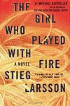 The girl who played with fire book club bag, by Stieg  Larsson. (Alfred A. Knopf, 2009).