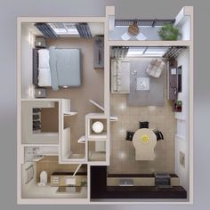 1 bedroom apartment floorplan  ***Picture taken from tumblr***