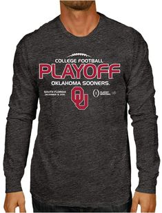 3ac7e0bb Oklahoma Sooners Victory 2016 College Football Playoff Gray LS T-Shirt
