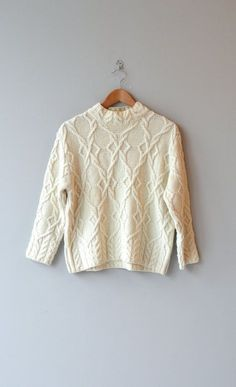 Ronin wool sweater • cable knit sweater • cream wool fishermans sweater