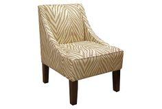 Quinn Swoop-Arm Chair, Camel/Cream on OneKingsLane.com