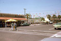 2 35mm Slides Phoenix Street Scenes Kon Tiki Hotel Wicked Wick Kodachrome 1975