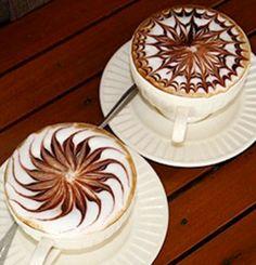 .·:*¨¨*:·.Coffee ♥ Art.·:*¨¨*: flower latte