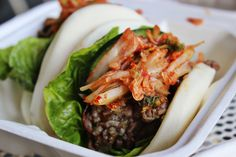 Kalbi bao 'tacos' at