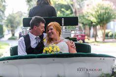 Riding off in a carriage after a beautiful Savannah wedding. www.photosbyrb.com
