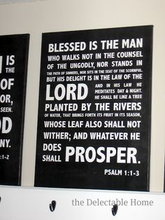 I remember memorizing this Psalm on a family vacation… we always memorized a passage of scripture on vacations. I want to hang this in our hallway….