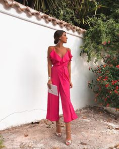 Name Sexy Fashion Rose Sleeveless Jumpsuits SKU Gender Women Style Elegant/Sexy/Fashion Type Jumpsuits Occasion Party/Vacation/Daily? Look Rose, Classy Outfits, Classy Party Outfit, Types Of Fashion Styles, Jumpsuits For Women, Summer Outfits, Fashion Dresses, Dress Up, Prom Dresses