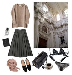 """""""Untitled #24"""" by cloudeprudis ❤ liked on Polyvore featuring beauty, Made of Me, Yves Saint Laurent, FOSSIL, Diptyque, Chantal Thomass, Calvin Klein Underwear and MANGO"""