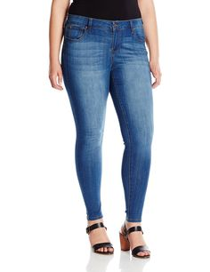 Celebrity Pink Jeans Women's Plus-Size Stretch Basic 5 Pocket Skinny Jean * More info could be found at the image url.