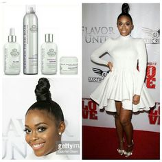 GET THE LOOK!! Actress @nafessawilliams williams at the @brotherlylovethemovie premiere in LA rocking her 'Top Knot! bun done by @sosheargenius. The products used to achieve this look were #SatinShield heat protectant. (A little more was used that the usual dime size amount) to help give it that slick look, then after pulling it in a tight high ponytail, (make sure to use a ponytail holder with NO metal clasp and do NOT use a rubberband) it was twisted and teased until it sat up high on its…