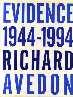 リチャード・アヴェドン写真集 Richard Avedon: Evidence 1944-1994 Richard Avedon 1994年/Random House 英語版 ペーパーバック版 少ヤケ ¥5,250