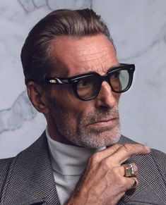 THE STURGES by Jacques Marie Mage: An edgy yet classic frame with bold appeal Glasses Shop, Mens Glasses, Spy Eyewear, Eyeglass Frames For Men, Fashion Eye Glasses, Eyeglasses For Women, Gentleman Style, Specs, Grass