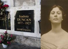 Isadora Duncan, the famous ballerina who died tragically. Cemetery Monuments, Cemetery Headstones, Cemetery Art, Isadora Duncan, Famous Tombstones, Famous Graves, Modern Dance, Ballet, Six Feet Under