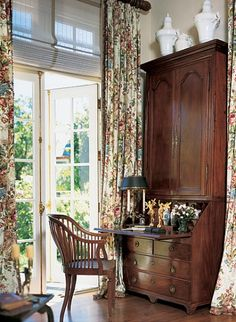 The Enchanted Home: English country living: love the high ceilings and bold height of the secretary